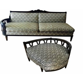 1960s Vintage French Provincial Sofa and Settee