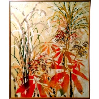 Lee Reynolds Abstract Floral & Foliage Oil Painting