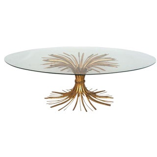 Gilded Sheaf of Wheat Coffee Table