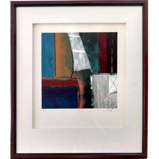 Kamy Deljou Abstract Mixed Media Monotype I
