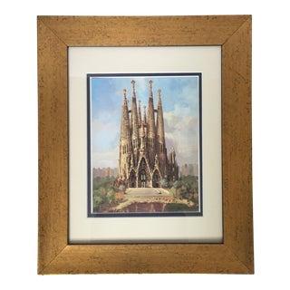 """Antonio Gaudi """"La Sagrada Familia"""" Framed Print"""