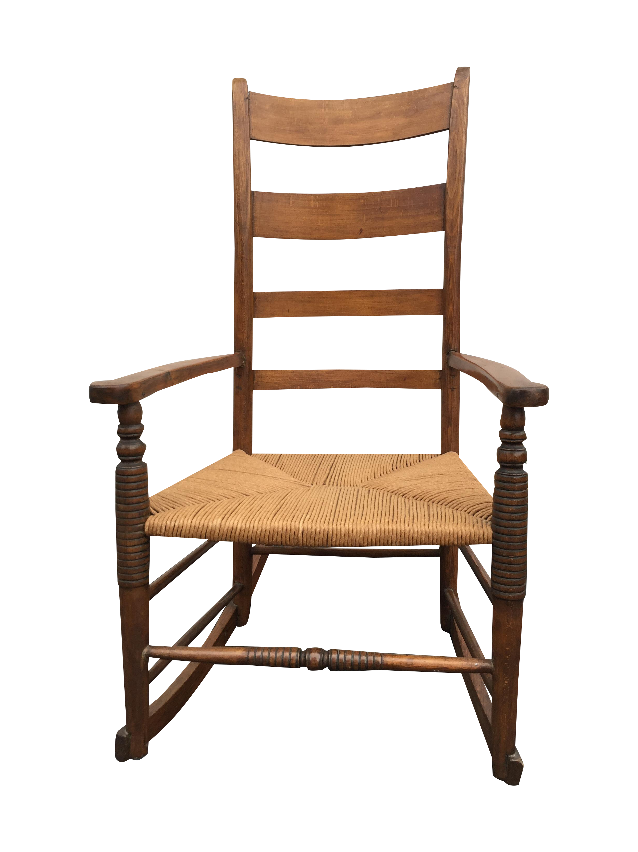 Antique Maple Rush Rocking Chair
