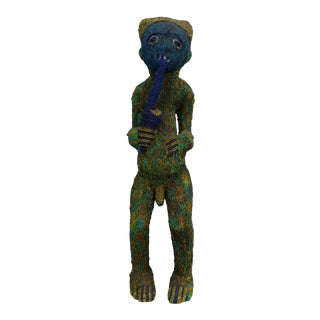 African Art Tribal Art Beaded Bamileke Statue From Cameroon