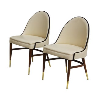 Petite Curved Back Chairs - A Pair