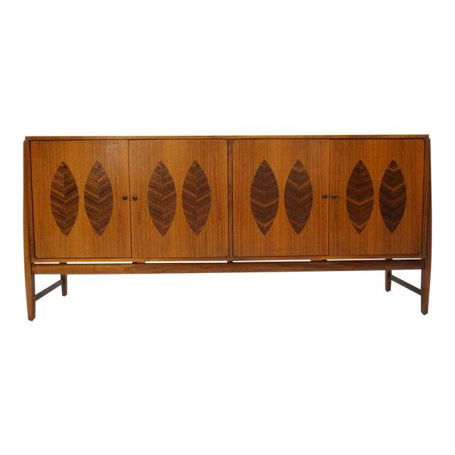 Kipp Stewart for Calvin Furniture Teak & Rosewood Inlay Sideboard - Image 1 of 11