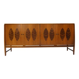 Kipp Stewart for Calvin Furniture Teak & Rosewood Inlay Sideboard