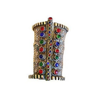 Massive Kuchi Glass Tribal Cuff