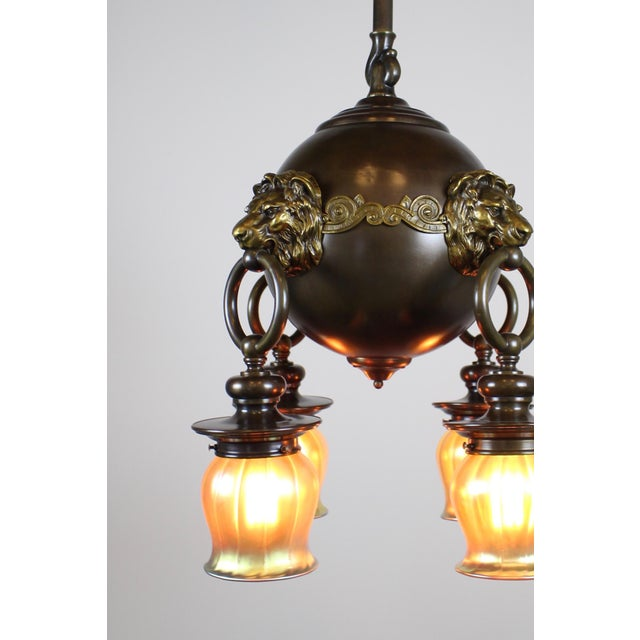 Classic Revival Lion Light Fixture - Image 4 of 10