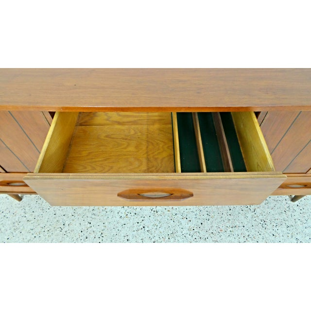 Mid Century Walnut Long Low Credenza - Image 10 of 11