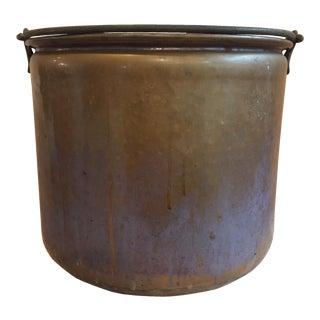 Hand-Hammered Copper Bucket