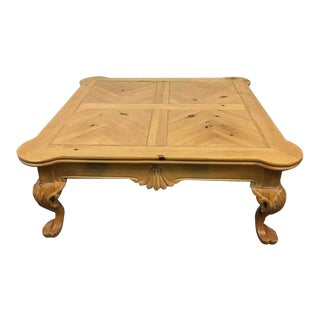 Italian Renaissance Carved Bird's Eye Maple Coffee Table