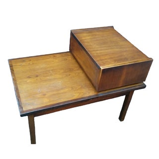 Stanley Mid-Century Modern Tiered Side Table
