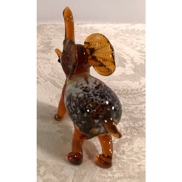 Vintage Blown Art Glass Brown Elephant - Image 5 of 8