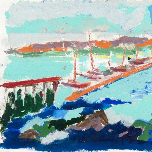 Monterey Harbor Painting by Robert Canete - Image 2 of 7