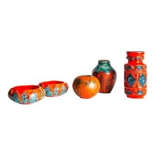 Mid-Century German Pottery - Set of 5