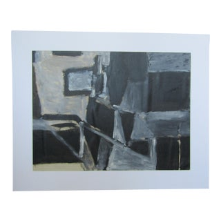 1950's Abstract Black & White Painting