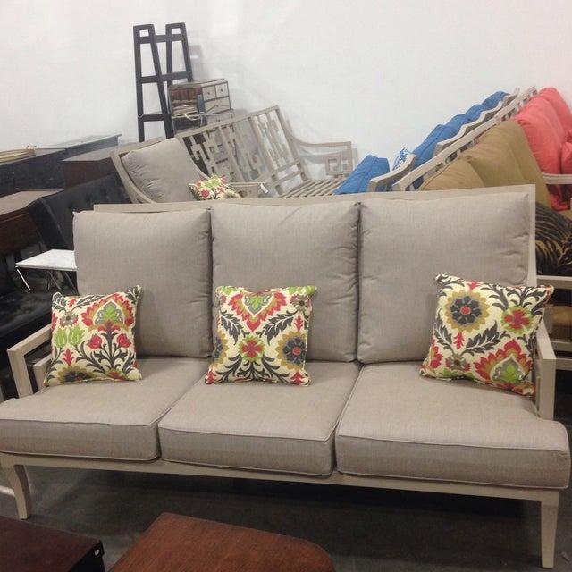 Lane Venture Gray Outdoor Sofa - Image 3 of 9