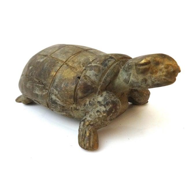 Bronze African Ashanti Akan Sculpture - Turtle - Image 5 of 8