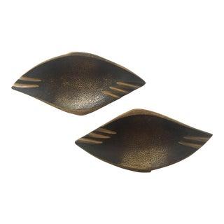 Dayagi Mid-Century Brass Trays - A Pair