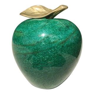 Vintage Malachite Green Marble Apple