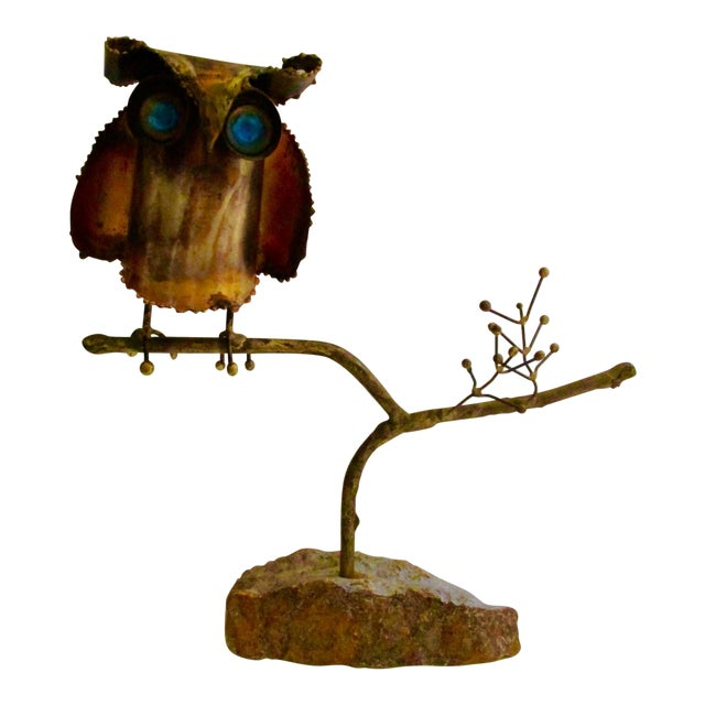 """""""Owl on Branch,"""" Early Sculpture by Curtis Jere - Image 1 of 11"""