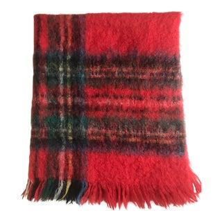 Vintage Australian Mohair Plaid Blanket