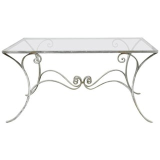 French Wrought Iron Patio Dining Table