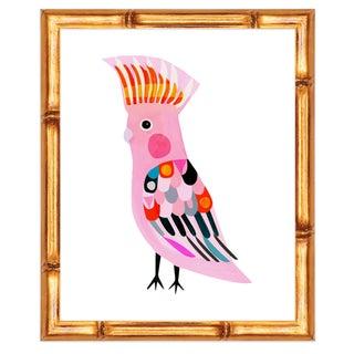 "Inaluxe's ""Major Mitchel"" Bird Print in Bamboo Frame"