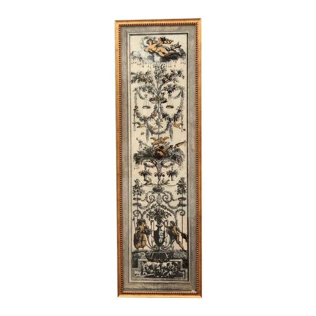 Vintage Reverse Painted French Panel - Image 1 of 7