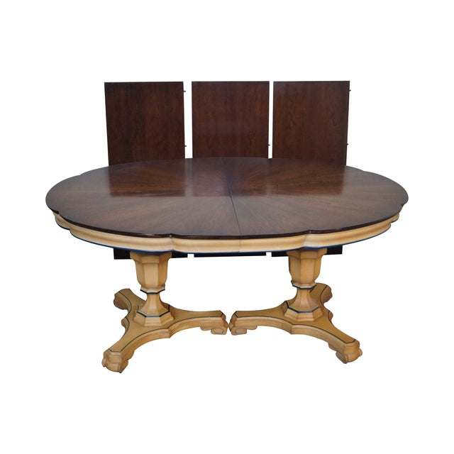 Vintage Louis XV Double Pedestal Dining Table - Image 1 of 10