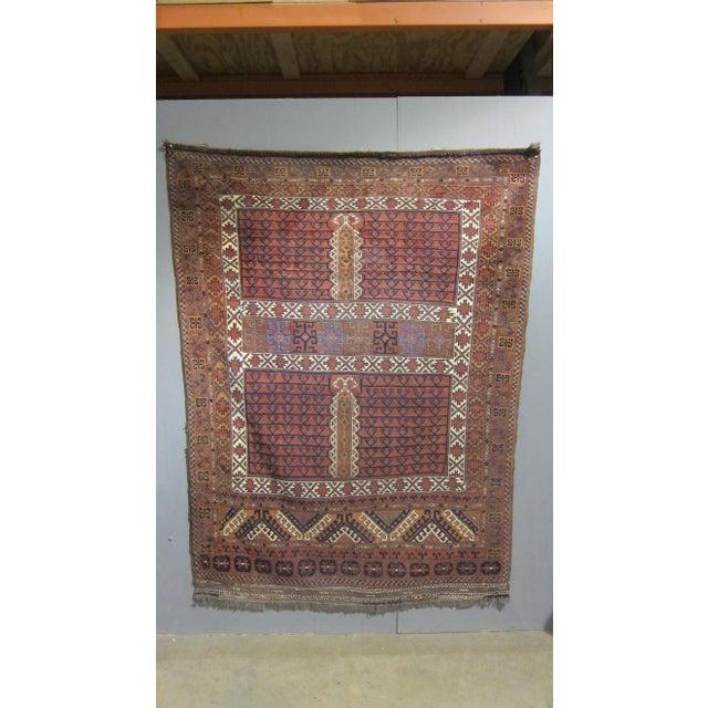 """Vintage Sarreid LTD Tribal Rug - 5' x 6'11"""" - Image 2 of 6"""