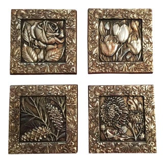 Florentine Gold Wall Plaques - Set of 4