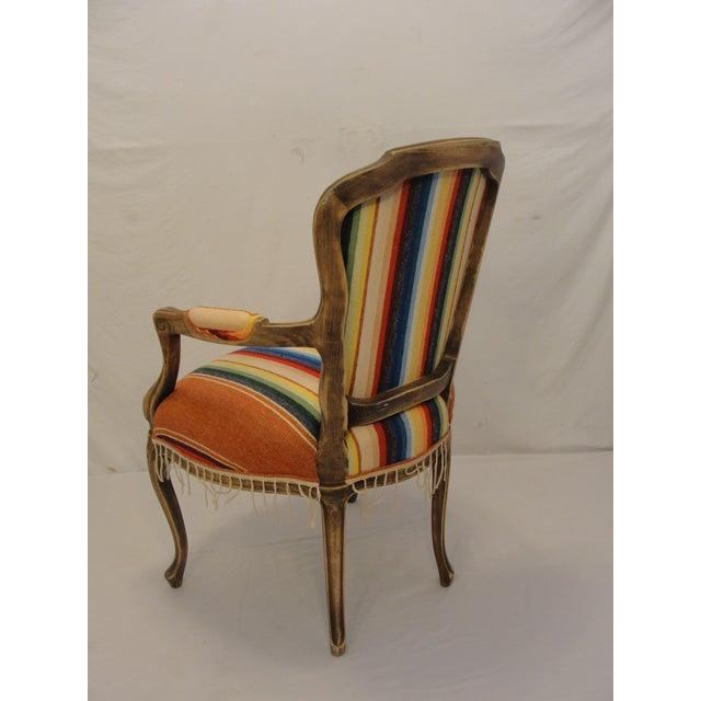 Bergere Chair Custom Upholstered in Serape - Image 6 of 8