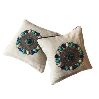 Jonathan Adler Jaipur Studded Pillows - A Pair
