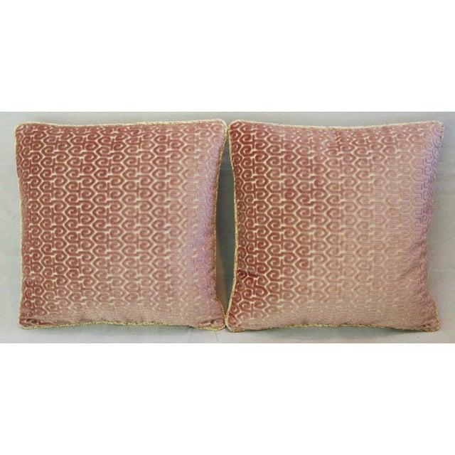 Designer Old World Weavers Velvet Pillows - A Pair - Image 6 of 11