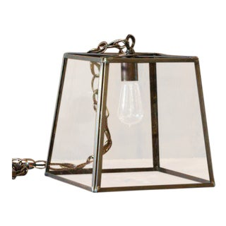 "Hand-Crafted Brass ""Preble"" Trapezoid Lantern"