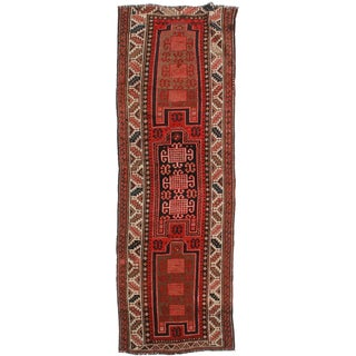 "RuhsinDallas Antique Russian Caucasian Runner - 3'7"" X 10'6"""