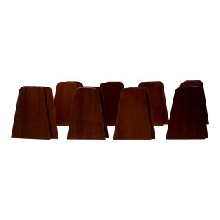 Kai Kristiansen Style Teak Bookends - Multiple Pairs Available