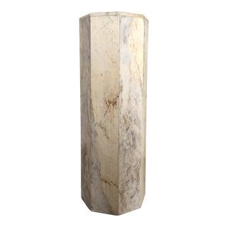 Vintage Modern Polished Marble Pedestal