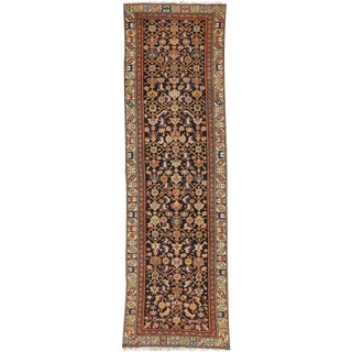 "Antique Persian Malayer Runner Rug- 3'1"" x 11'4"""
