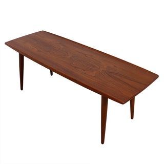 Danish Splayed Leg Teak Surfboard Coffee Table
