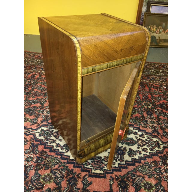 Image of Antique Art Deco Waterfall Style Nightstand