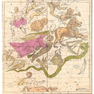 Antique Astronomy Constellations - April May June