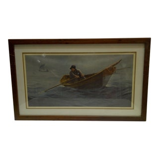 "Wellington Ward Jr. ""Lone Fisherman"" Limited Edition Signed & Numbered Print"