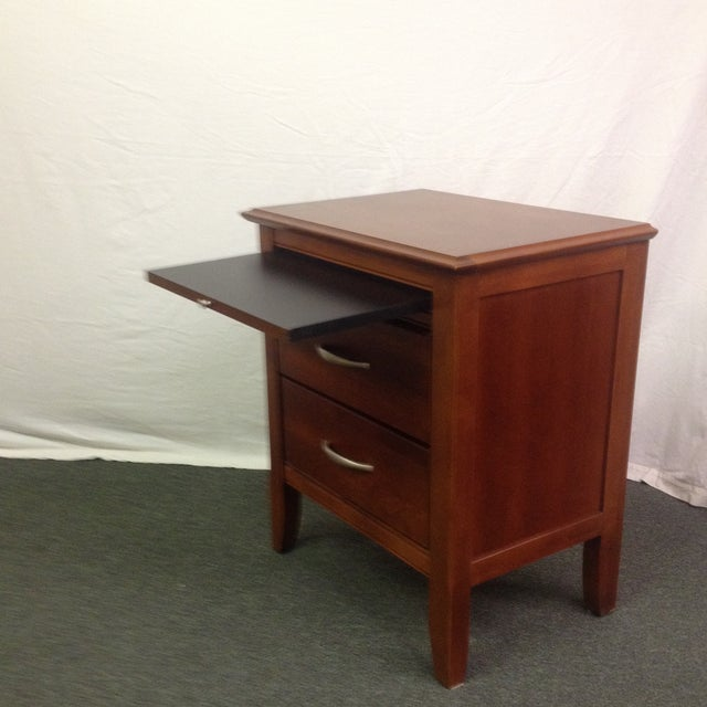 Image of Bassett Cherry Bedside or End Tables - a Pair