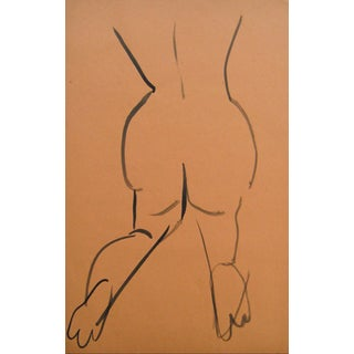 Helen Rennie Mid-Century Nude Study Drawing
