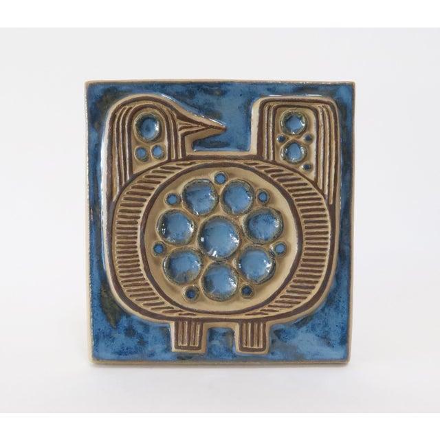 Vintage Bornholm Glazed Decorative Tile - Image 2 of 5