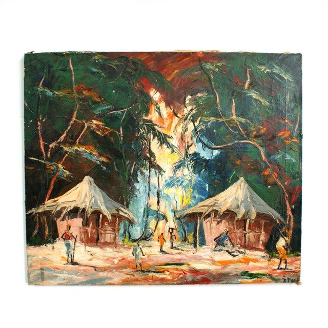 Original Tropical Landscape Painting - Image 3 of 3