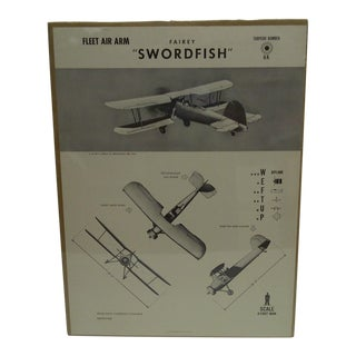 """WWII """"Fairey Swordfish"""" Aircraft Recognition Poster"""
