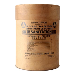 Circa 1962 Cold War Survival Kit Barrel Box